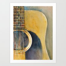 Martin Accoustic Guitar  new proportion Art Print