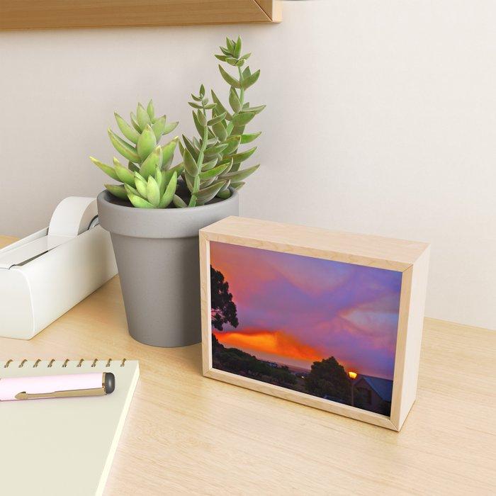Smoky Sunset Bay Framed Mini Art Print