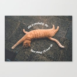 best thing Canvas Print