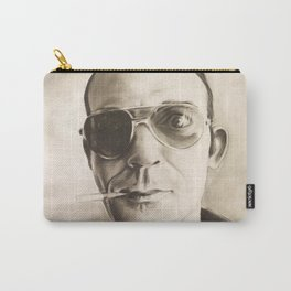 Hunter S. Thompson Portrait in Charcoal Carry-All Pouch