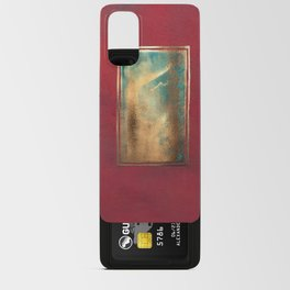 Deep Red, Gold, Turquoise Blue Android Card Case
