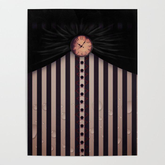 White Rabbit's Clock Poster