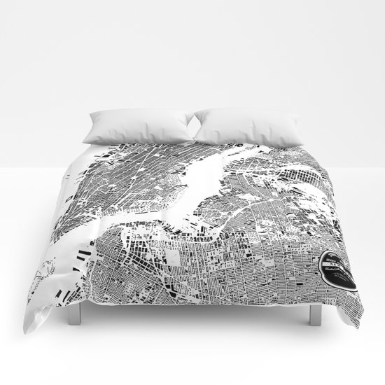 New York Map Comforters