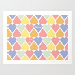 Valentine's Sweet Hearts Art Print