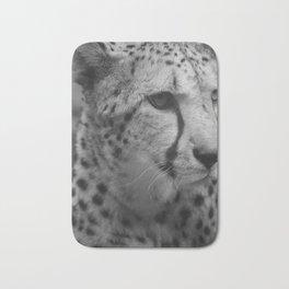 Cheetah Black & White Bath Mat