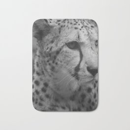 Cheetah Black & White Bath Mat