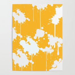 Abstract Paint Splashes Poster
