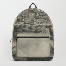 Vintage Pictorial Map of Richmond VA (1876) Backpack