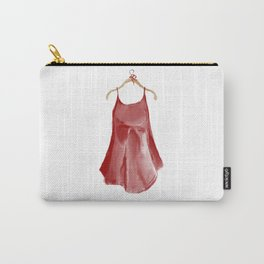 Red silk slip dress Carry-All Pouch