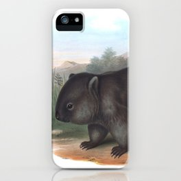 Wombat in the nature of Australia iPhone Case