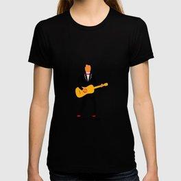 Guitarist in Tuxedo Playing Guitar Retro T-shirt