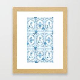 Marie-Antoinette Monogram (Aqua) Framed Art Print