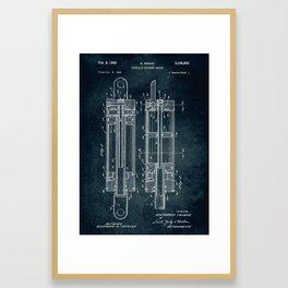 1962 - Hidraulic cylinder device Framed Art Print