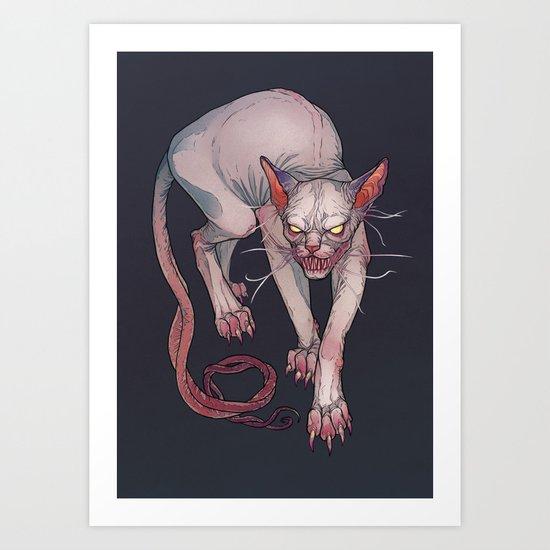 Goblin cat Art Print