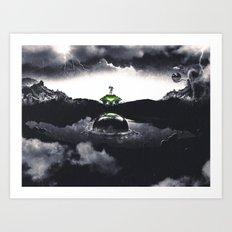 The Landing A Zebes Surrealism Art Print