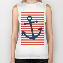 Nautical Anchor Biker Tank
