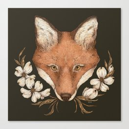 The Fox and Dogwoods Canvas Print