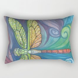 Groovy Dragonfly Spirit Rectangular Pillow
