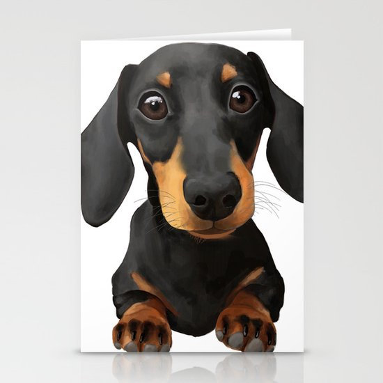 Cute Sausage Dog by peachyteastore