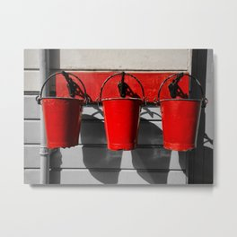 Fire Buckets Metal Print