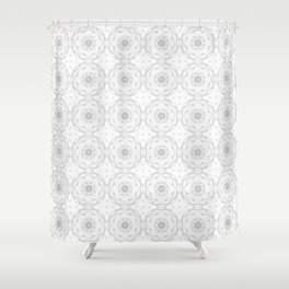 Gray Charcoal Floral Shower Curtain