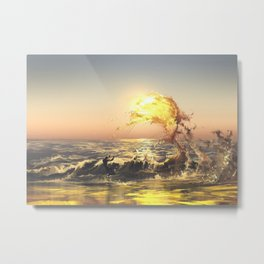 out of water Metal Print