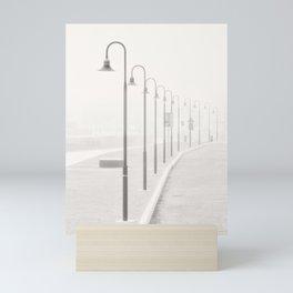 The street lamps in the dock of Senigallia, Italy Mini Art Print