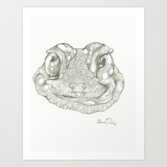 Greg the Gecko Art Print