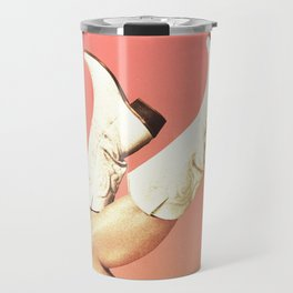 These Boots - Living Coral Travel Mug