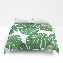 MONSTERA JUNGLE, by Frank-Joseph Comforters