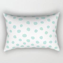 mint dots Rectangular Pillow