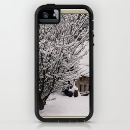 OLD SHED IN SNOW iPhone Case