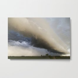 Shelf Cloud Over Country Road 3 Metal Print
