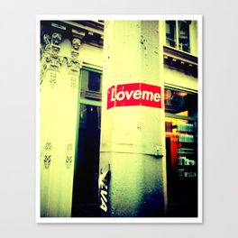 LOVE.ME. Canvas Print