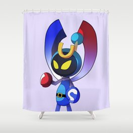 Magnet Bomber Shower Curtain