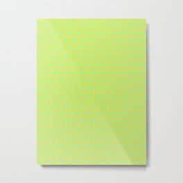 Patterns: Orange Green Flowers Metal Print