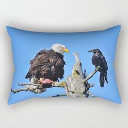 Avian Showdown Rectangular Pillow