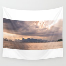 Heavens Burst over Christ the Redeemer Wall Tapestry