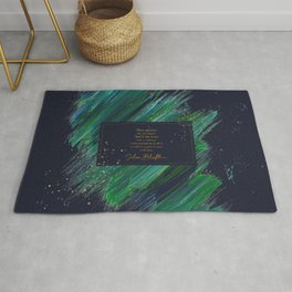 These pictures are my heart... Julian Blackthorn Rug