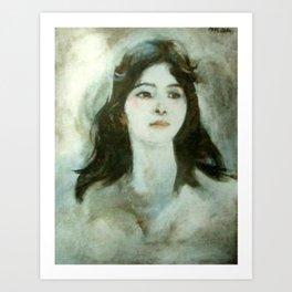 The woman (by Dương Bích Liên) Art Print