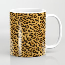 Chic Leopard Fur Fabric Coffee Mug