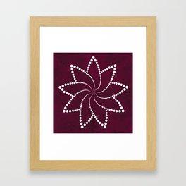Zen Floral Mandala Framed Art Print
