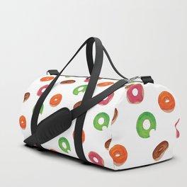 Donut Pattern Duffle Bag