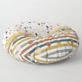 Multicolor Abstract Splatter Floor Pillow