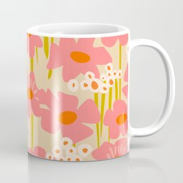 Relax in your summer meadow – floral shapes pattern Coffee Mug