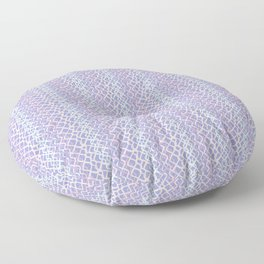 Lilac Abstract Fish Net Loop Pattern Floor Pillow