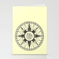 compass Stationery Cards featuring Compass by Smokacinno