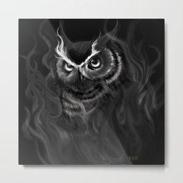 Owl Aflame Metal Print