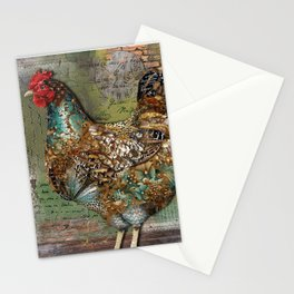 Paris Hen Stationery Cards