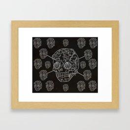 Skull Web Framed Art Print